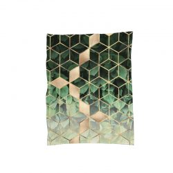 &fab botanisch plaid leaves and cubes