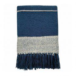Plaid Malagoon Berber blauw
