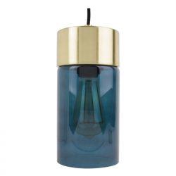 Hanglamp Leitmotiv blauw goud