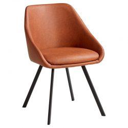 stoel roestbruin koper oranje