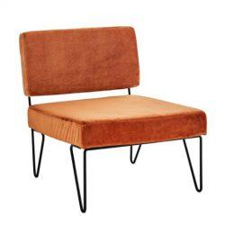loungestoel roestbruin koper oranje