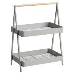 Keukenrek grijs hout