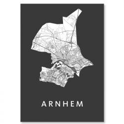 Kunst in kaart poster Arnhem