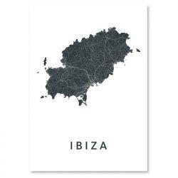 Kunst in kaart poster Ibiza