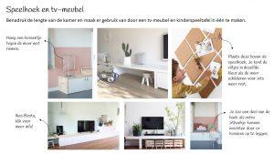 Tv-meubel en kindertafel scandinavisch interieur