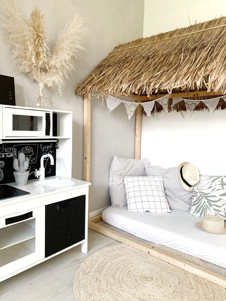 palmblad speelhuisje kinderkamer