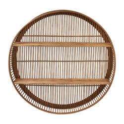 bamboe wandkast rotan