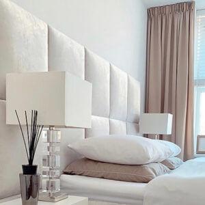 diy luxe hoofdbord bed