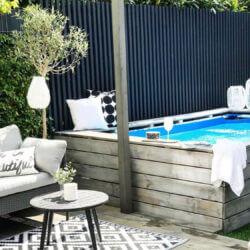 DIY zwembad ombouw