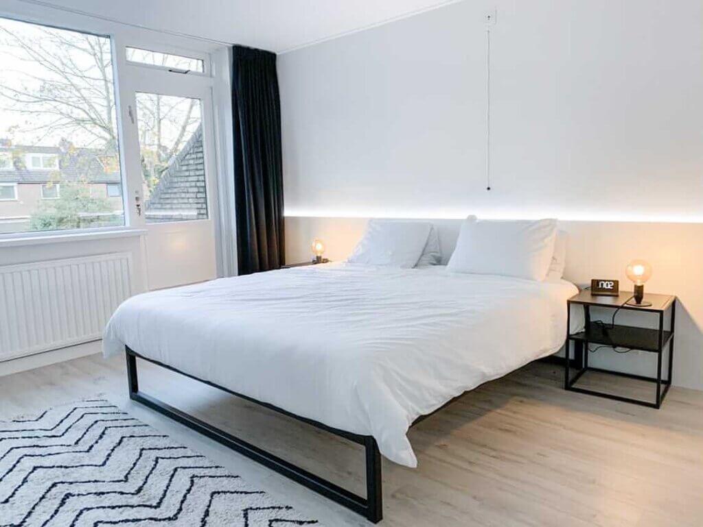 ledstrip slaapkamer hoofdbord interieur