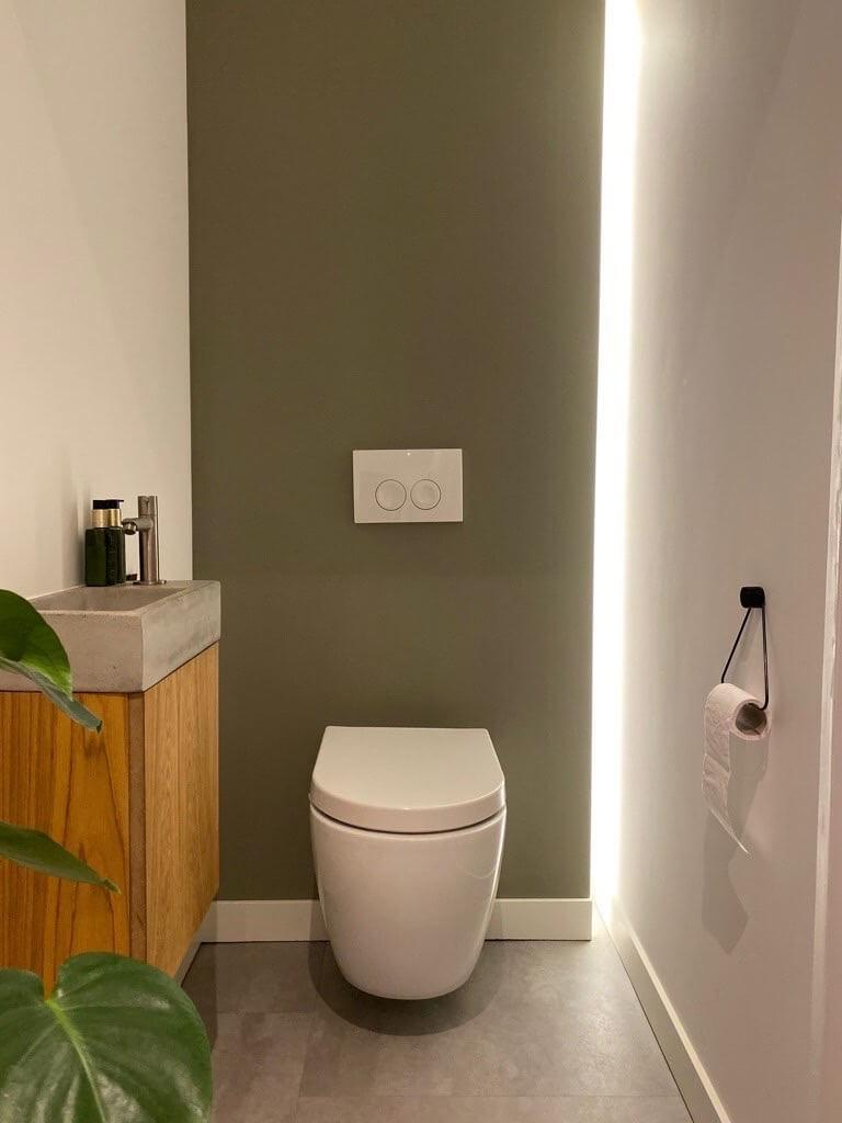 led strip toilet interieur