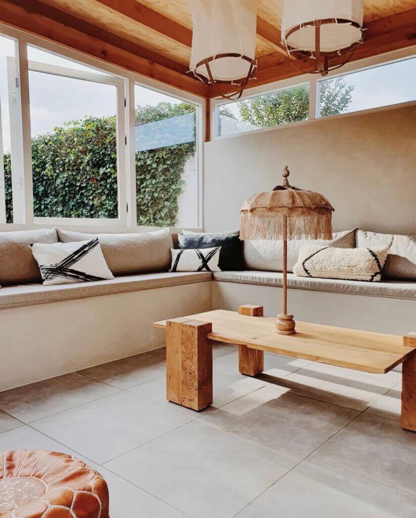 tuinkamer veranda overkapping styling inrichting muur